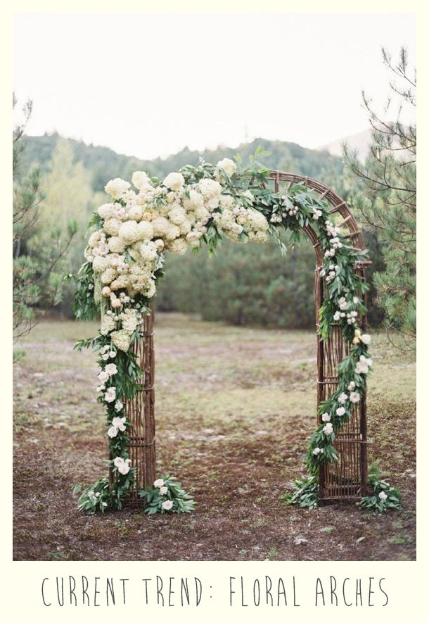 Flower wedding arches (for my rustic outdoor wedding)