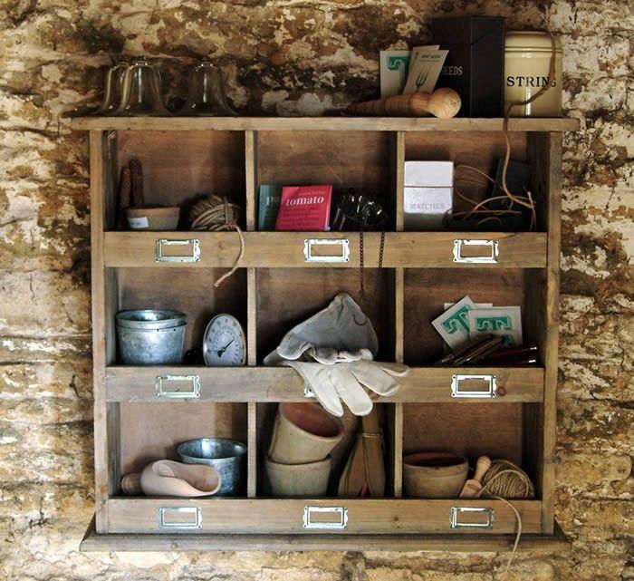 Wooden Shelf Unit 9
