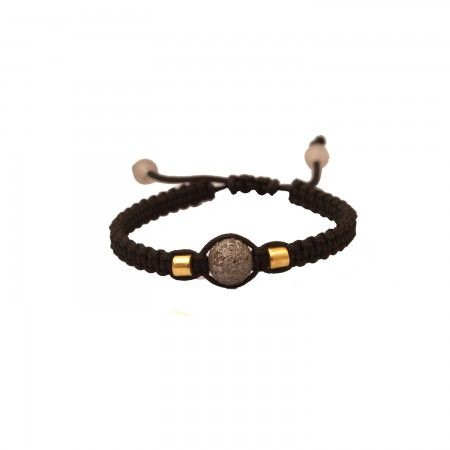 The timeless allure of diamonds is paired with the contemporary style of Shamballa in this bracelet.