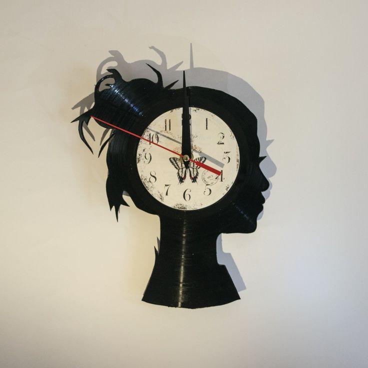Girl Vinyl Wall Clock