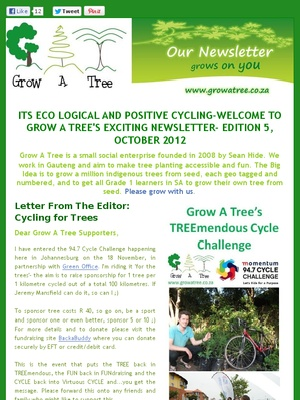 """Edition 5- """"IT'S ECO LOGICAL AND POSITIVE CYCLING"""", OCTOBER 2012"""