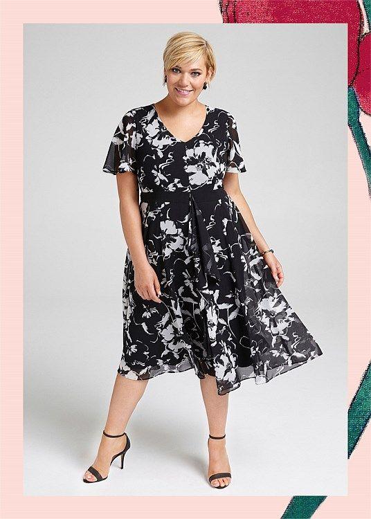 Painterly Petals Dress #takingshape #plussize #curvy #eventwear #event #specialevent