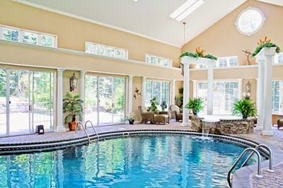 Modern House Indoor Pool Design Ideas