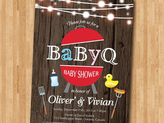 688 best images about party & shower ideas on pinterest | baby q, Baby shower invitations