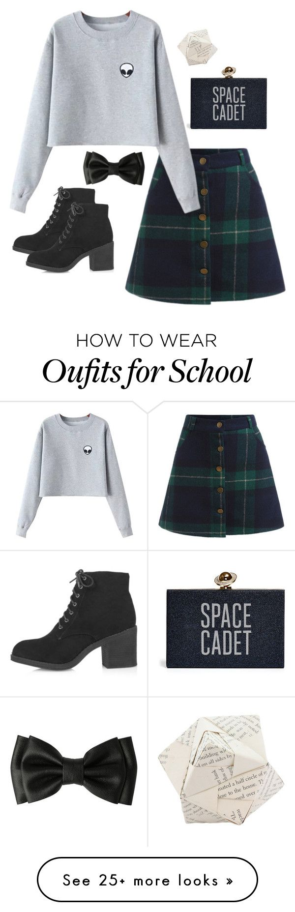 """""""School Grunge"""" by swimsinger on Polyvore featuring Chicnova Fashion, Topshop and Dot & Bo"""
