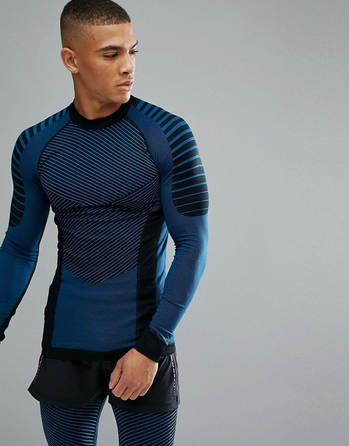 Mens Compression Long Sleeve Top Running Sports Gym Athletics Yoga CrossFit