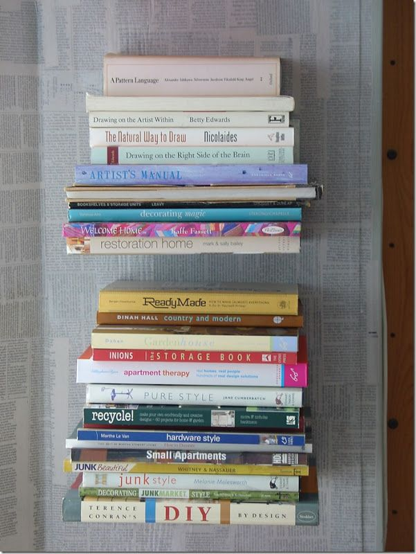 Librería con repisas invisibles