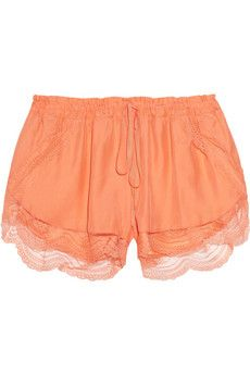 Lover Lace-trimmed silk shorts | THE OUTNET
