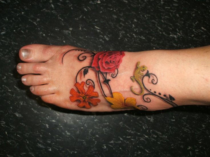 Pictures of beautiful tattoos my beautiful foot tattoo for Fallen sparrow tattoo