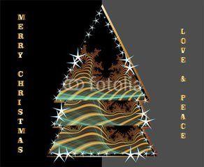 Christmas wishes and an elegant Christmas tree