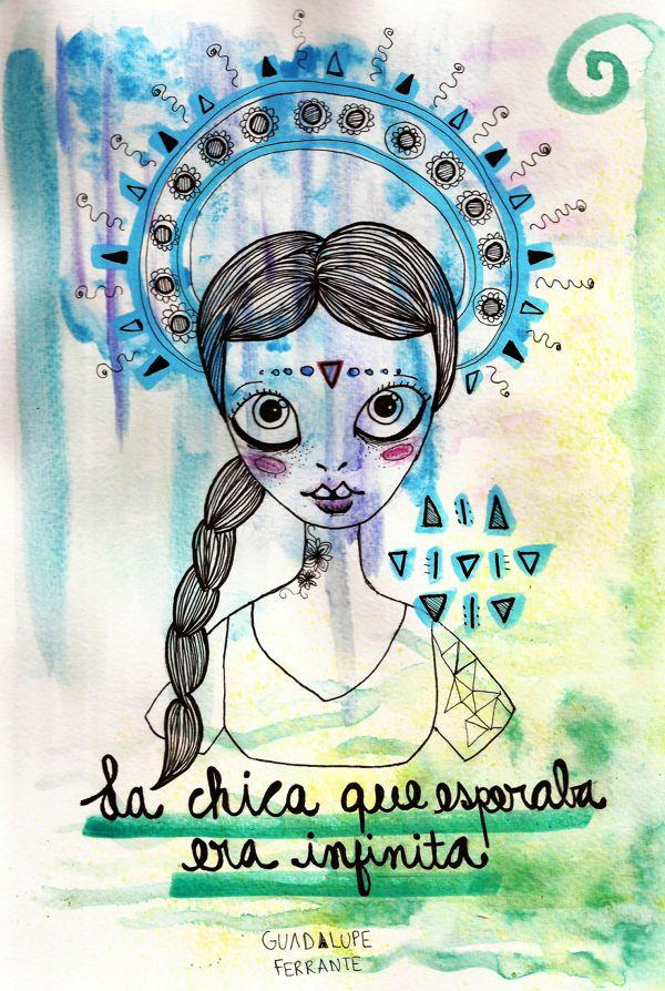Pero yo ya extraño hasta tus problemas. La chica que esperaba era infinita. -Charly García. *by Guadalupe Ferrante
