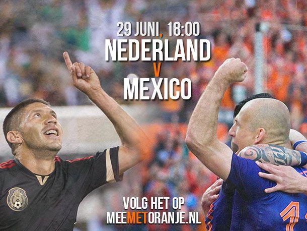 Nederland - Mexico 8e finale WK 2014 · Mee met Oranje