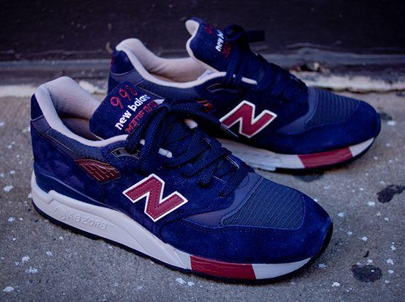 New Balance 998: Navy/Burgundy