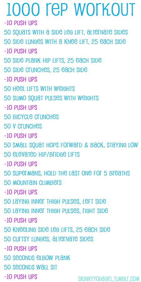 1000 rep workout you can do at home