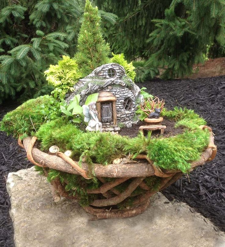 Handcrafted Root Bowl Is Perfect For Miniature Fairy Gardening   Handmade  And No Two Are Alike.