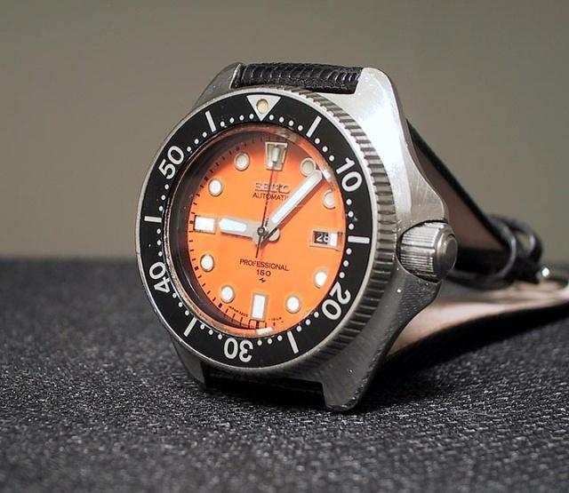 Ladies seiko 2205 diver mid 70s rarer orange dial - Orange dive watch ...