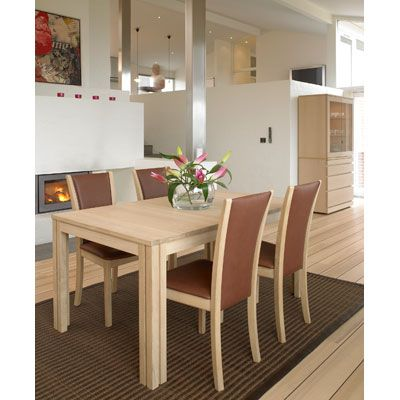 Skovby Dining Room  restangular table with extensions  upholstered chairs   buffet  in natural40 best Modern Wood Dining images on Pinterest   Dining room  . Modern Dining Room Table With Extension. Home Design Ideas