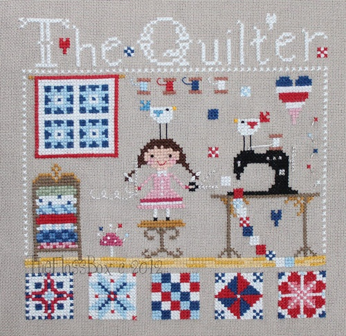 Emily, the quilter cross stitch