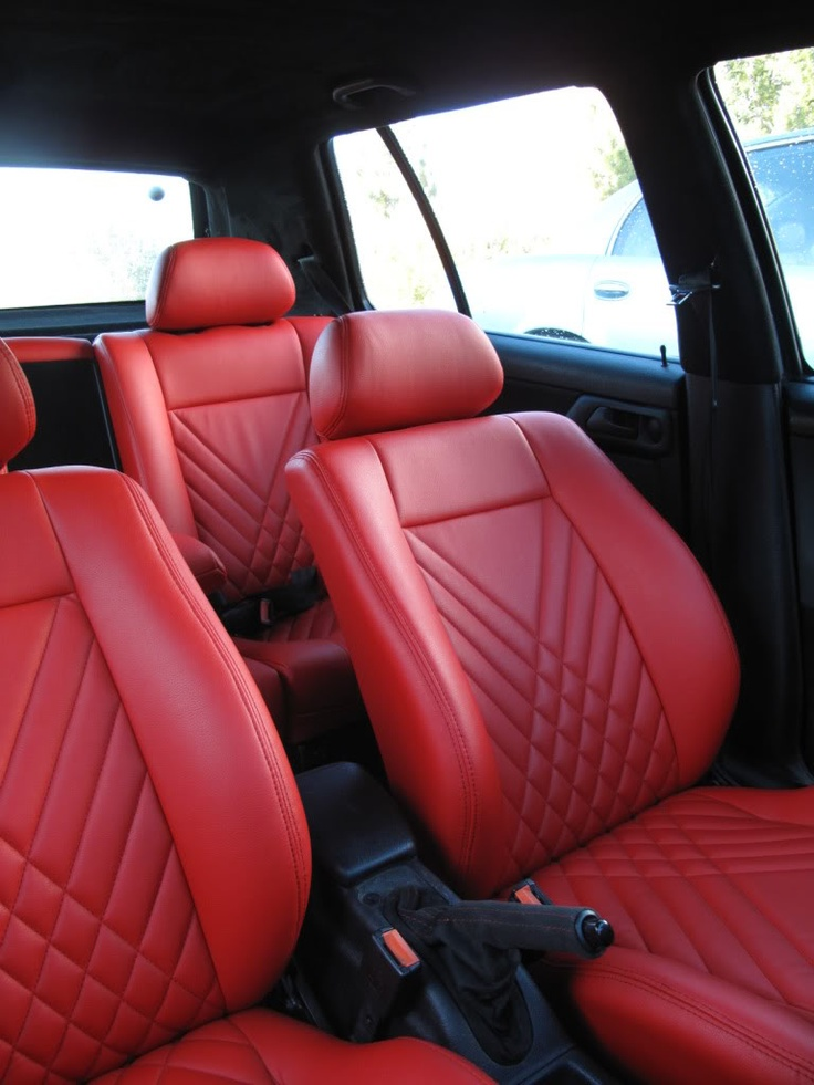 Red car upholstery