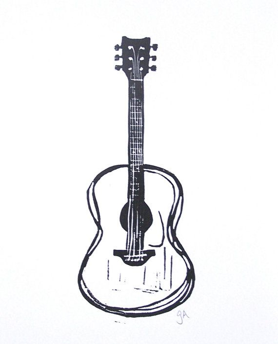 Hey, I found this really awesome Etsy listing at https://www.etsy.com/listing/124032858/print-black-acoustic-guitar-linocut