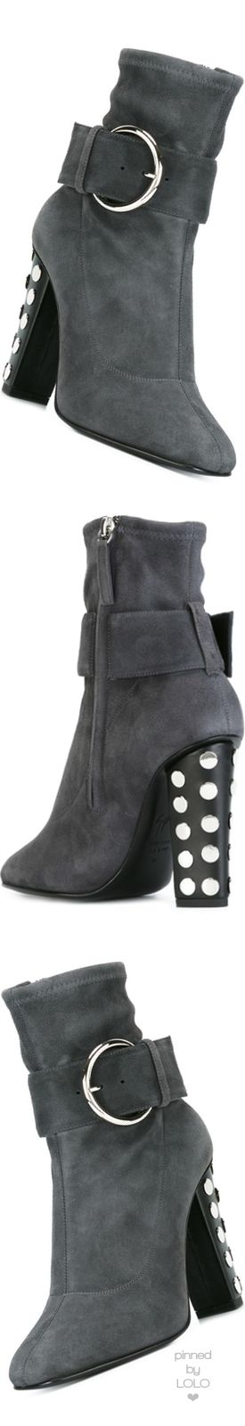 GIUSEPPE ZANOTTI DESIGN Embellished Heel Boots Ferro | LOLO❤︎
