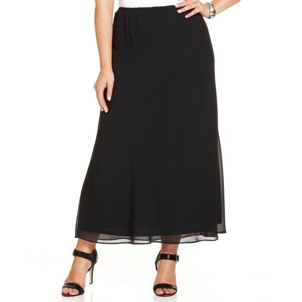 Msk Plus Size Chiffon Maxi Skirt ($59) ❤ liked on Polyvore featuring plus size women's fashion, plus size clothing, plus size skirts, black, chiffon skirts, slip skirt, plus size chiffon maxi skirt, chiffon maxi skirt and floor length chiffon skirt