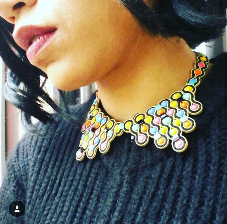 Warning: eye-catching, hot & dangerous. Choosing neon colors will make you stand out in the crowd! #doricsengeri #neoncolors #fluorescentcolors #statementnecklace #designerjewelry