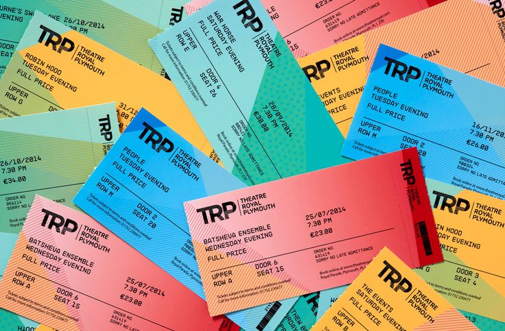The Best of BP&O – Tickets: Full colour tickets for Theatre Royal Plymouth designed by Spy