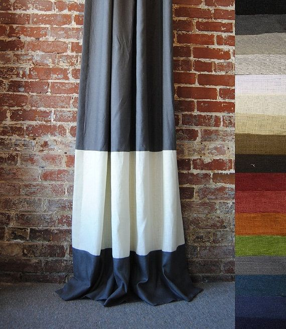 84 Quot Banded Panel Custom Curtains 28 Color Options