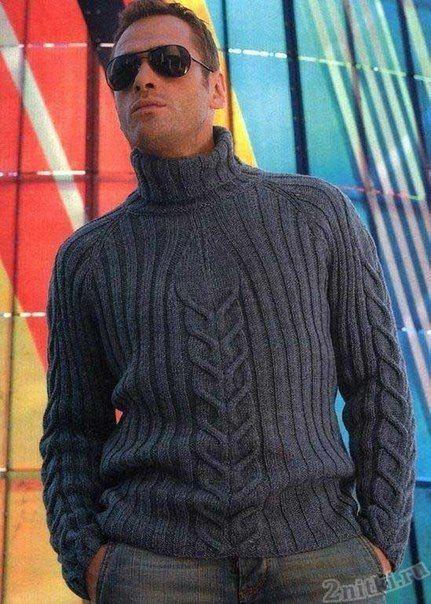 Совершенно потрясающий мужской свитер регланом.