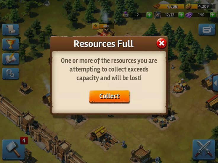 Siegefall | Tycoon Phase | Resources Full | UI HUD User Interface Game Art GUI iOS Apps Games | Gameloft | www.girlvsgui.com