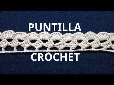 Puntilla N° 44 en tejido crochet tutorial paso a paso. - YouTube