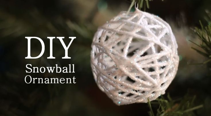 Sneeuwbal als decoratie van garen maken