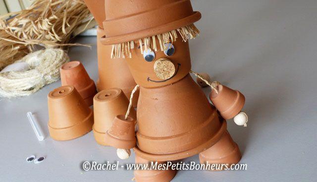 Bonhomme pot de fleur crafts pinterest d co pots et - Decoration avec des pots en terre cuite ...