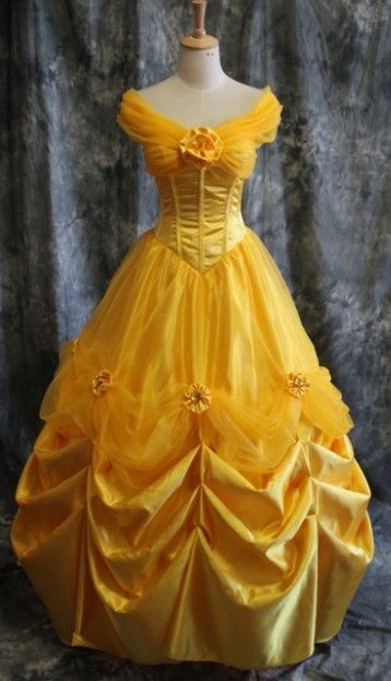 Belle's yellow dress. This one is more simple, but the fabric has a more expensive feel to it, which I like.
