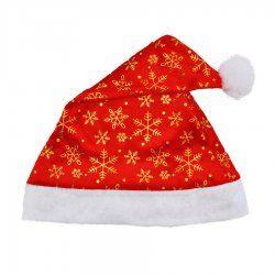 Gilt gold velvet snowflake Christmas hats
