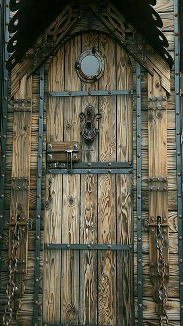Celtic wood door. - by Nicole Lee