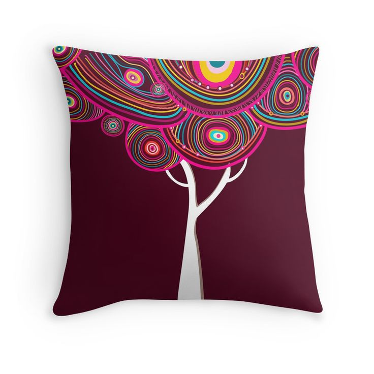 """""""Abstract tree"""" Throw Pillows by smotrivnebo   Redbubble"""