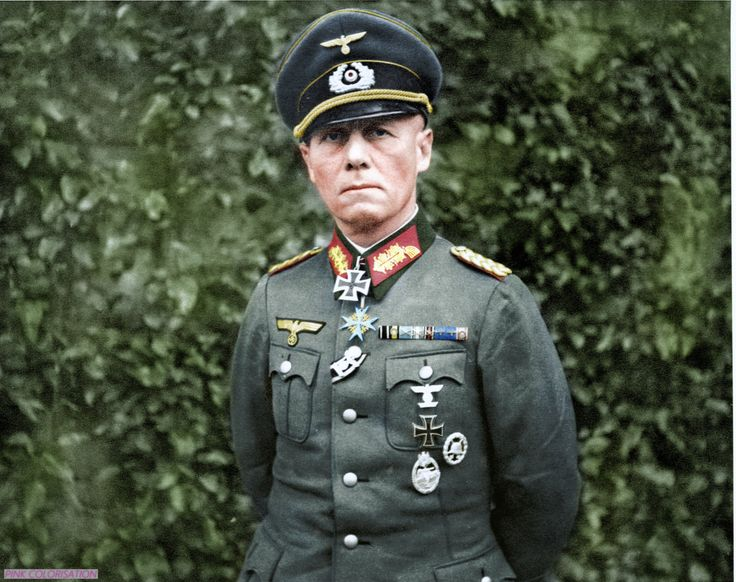 World War II - Historical Pictures - Portrait of Erwin Rommel… The Desert Fox. Made By...