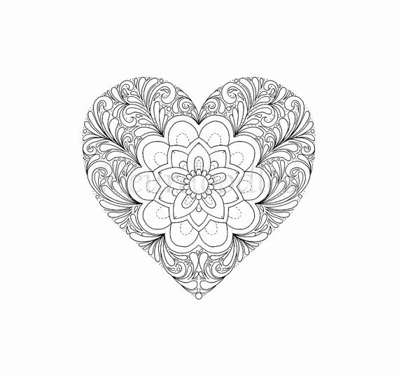 Pin En Best Love Heart Coloring Pages