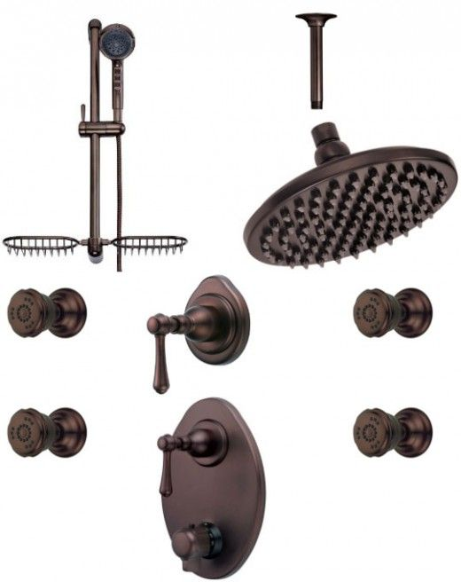 kohler shower systems chrome with body sprays oil rubbed bronze brushed nickel