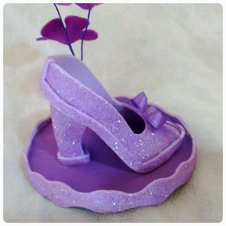 Lembrancinhas Sapato da Cinderela em eva | Nath Bella Arte