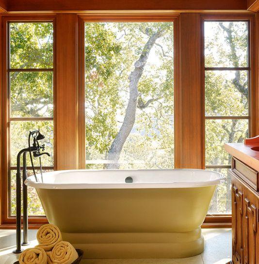 Bathroom ~ Soaking Tub + Large Window. Mediterranes BadMediterranes DesignBadezimmer  IdeenBadgestaltung ...