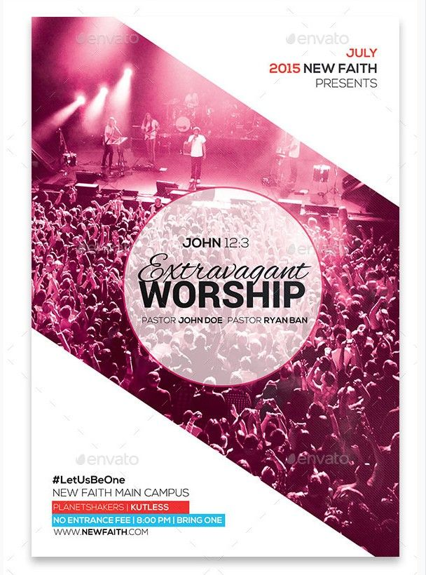 Church Worship Flyer Bundle - Party Flyer Templates For Clubs Business & Marketing