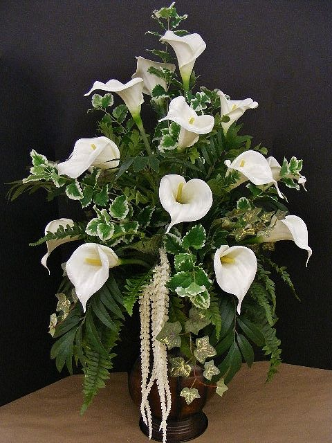Elegant calla lilies. Annette at Michaels Arts & Crafts Madison, TN