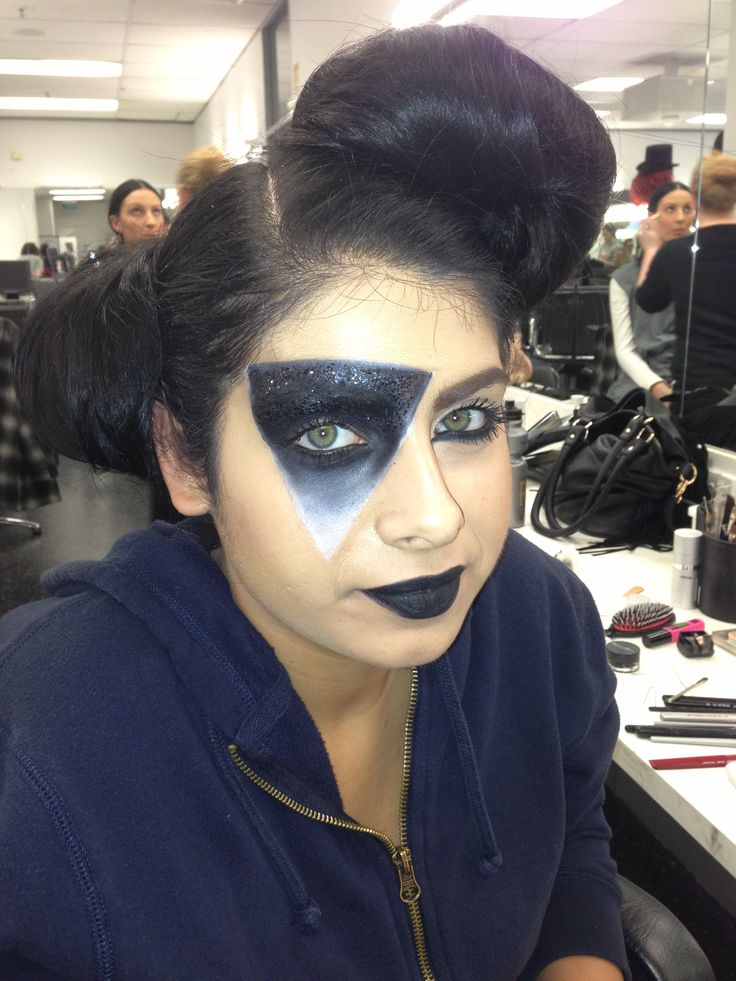Lady gaga inspired look . Products I used -kryolan paints ...