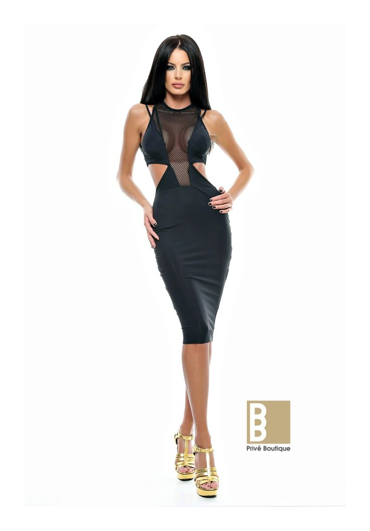 Rochie silhouette - <strong>Material: </strong>lycra si plasa