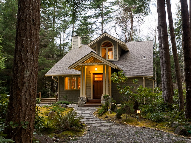 House in the woods pacific northwest home pinterest for Pacific northwest house plans