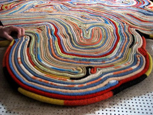 Recycled blanket rug by Tejo Remy and Rene VeenHuizen