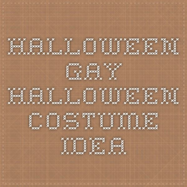 halloween - gay halloween costume idea